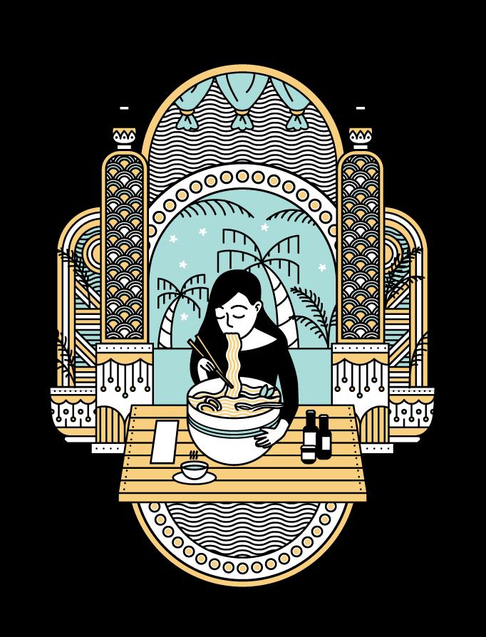 Pho_Girl_illustration_Client_work_Restaurant