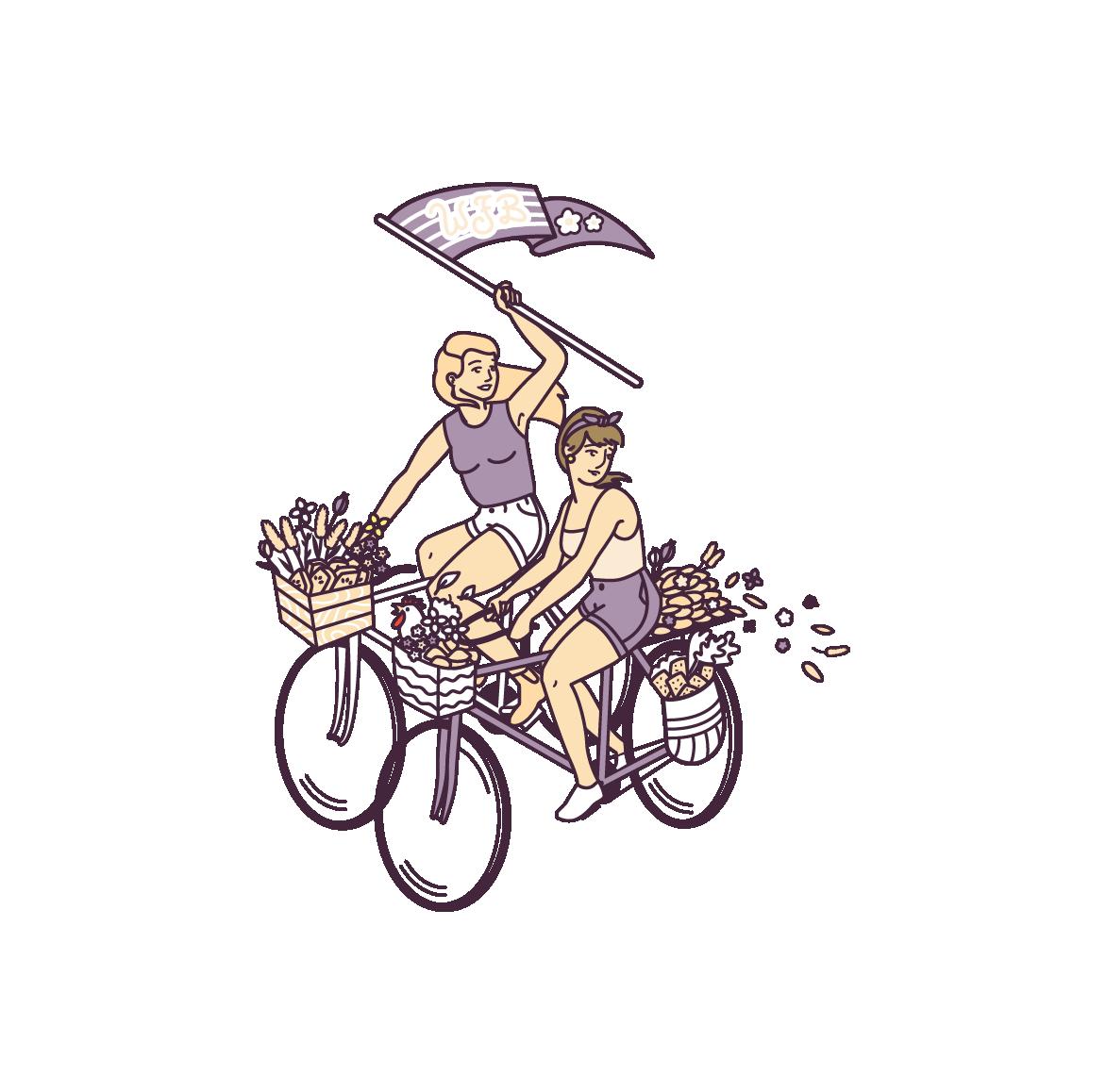Poster_Illustration_Design_Bikes_Riding_Bakery