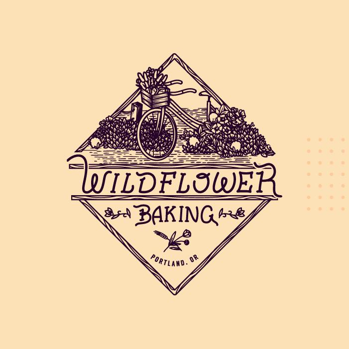 Wilderflower_Baking_Logo_Design_Hand_drawn_Illustration