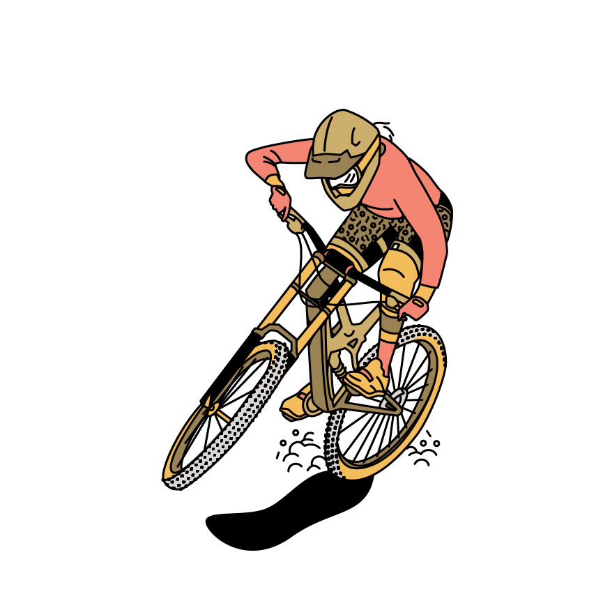 Downhill-biking